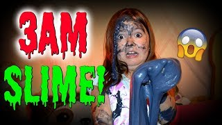 DO NOT MAKE SLIME AT 3AM! OMG SO SCARY!!! ~ 3AM SLIME CHALLENGE/SKIT   Sedona Fun Kids TV