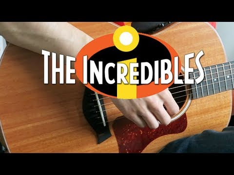The Incredibles Theme - Acoustic Guitar Cover (Tabs + Sheet Music)