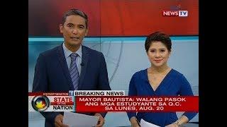 SONA: Mayor Bautista: Walang pasok ang mga estudyante sa Q.C. sa lunes, Aug. 20