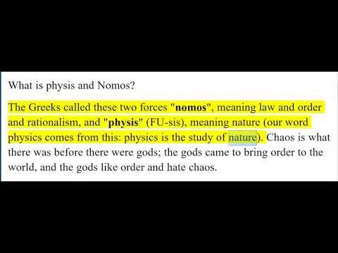 nomos and physis