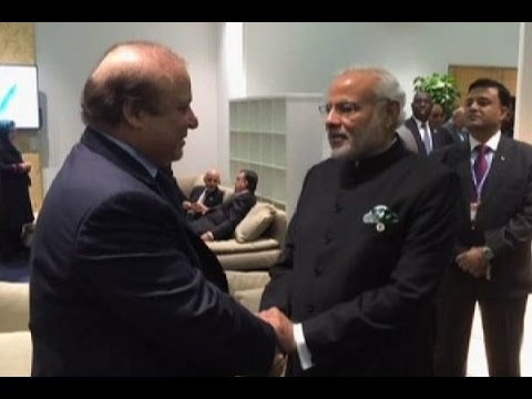PM Modi meets Pakistan counterpart Nawaz Sharif; exchange pleasantaries