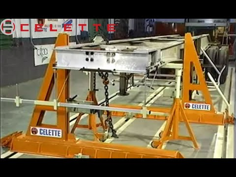 TRUCK FRAME MACHINE FOR CHASSIS REPAIR:TECH TIP FOR COLLISION REPAIR, FRAME STRAIGHTENING BY CELETTE