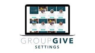 GroupGIve Settings