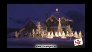 Видео открытка Новогодняя цветомузыка(Новогоднее поздравление в цветомузыкальном оформлении зимнего, заснеженного дома с ярко выраженной звездой., 2014-01-07T16:12:42.000Z)