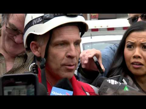 Toronto crane rescuer cuts interview short to get to hockey game