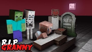 Monster School: RIP Granny - Scary Minecraft Animation