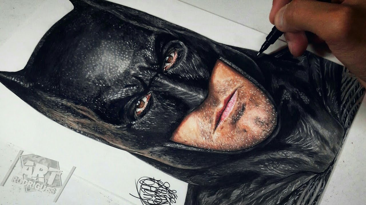 Drawing Batman Justice League Ben Affleck Youtube