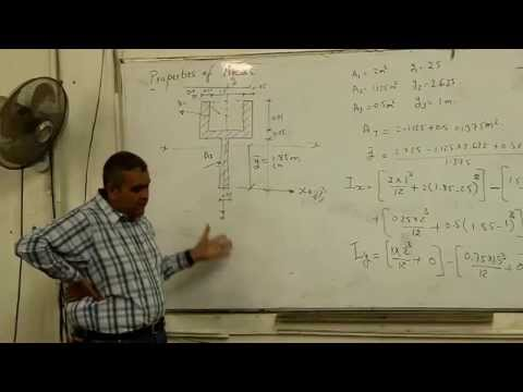 Structure - lecture 9 ( Properties Of Area & Straining Actions )