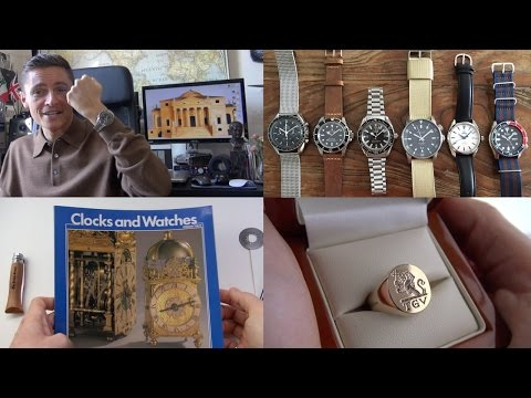 A Soldier's Watch Collection Review - Doxa Diver & Gold Custom Signet Ring Unboxing + $2 Book Haul