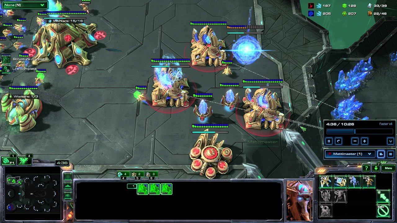 Starcraft II PvZ - Counter zerg rush