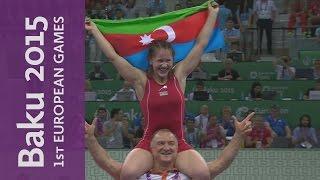 Glory for Dorogan in the 53kg Freestyle category | Wrestling | Baku 2015 European Games
