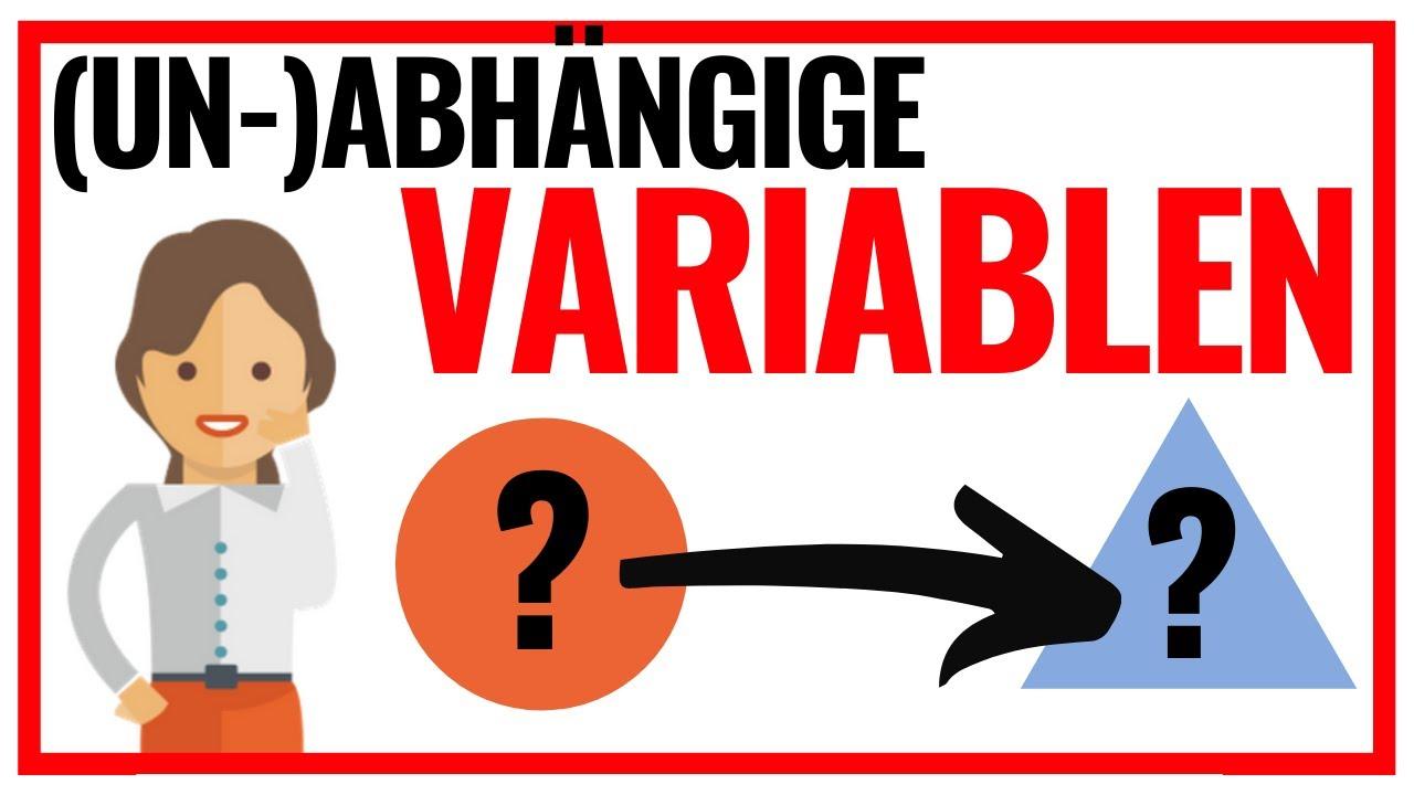 Download Unabhängige und abhängige Variablen (Statistik Basics) 📊
