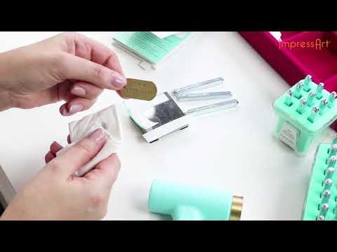 ImpressArt | supports à graver en métal Designer Quality ♡ Tutoriel