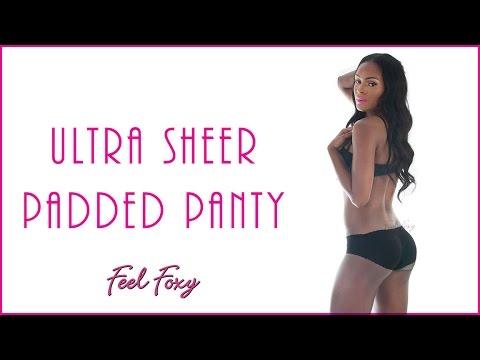 e012e368266 Feel Foxy Ultra Sheer Padded Panty - YouTube