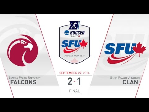 SFU Clan Women's Soccer: SFU vs. SPU - September 29, 2016