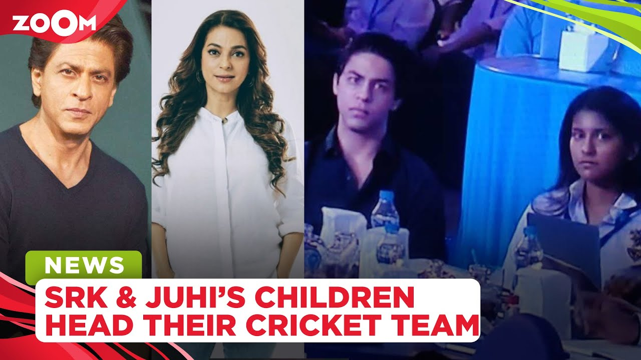 Shah Rukh Khan & Juhi Chawla's children Aryan & Janhavi lead their parents' cricket team at auction
