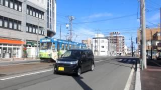 函館市電 十字街 8004号 宝来-谷地頭線から本線へ