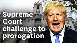 Supreme Court challenge over Boris Johnson's suspension of parliament