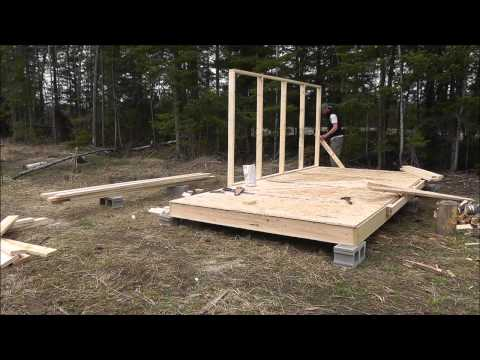 Wall Tent Platform Build