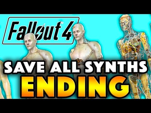 Fallout 4 ENDING - SAVE ALL SYNTHS (Alternate Railroad Ending)