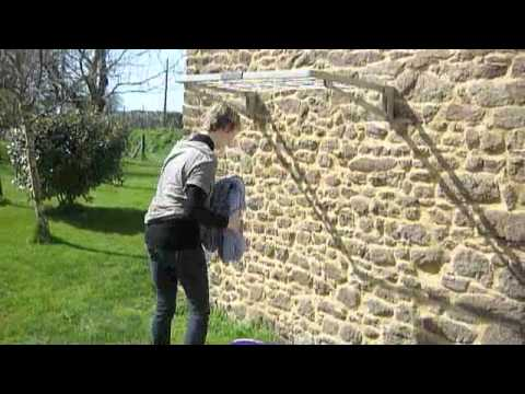 S choir mural escamotable mod le s youtube - Etendoir a linge mural retractable ...