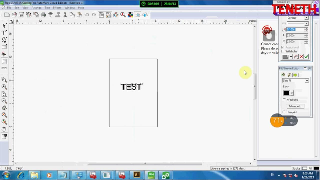 Flexi Starter 11 Cloud Edition Version Cutting Plotting Software for Liyu Cutter
