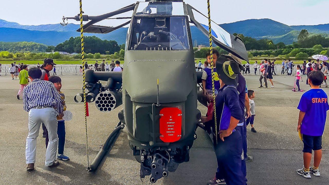 4K] Helicopter AH-1F/S Cobra Republic of Korea Army aviation / 중형 공격헬기 AH-1  / Ударный вертолет AH-1 - YouTube