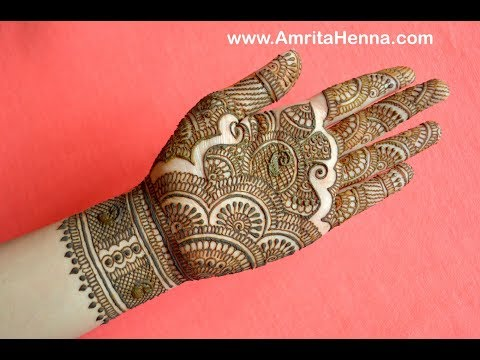 TRADITIONAL RAJASTHANI BRIDAL HENNA MEHNDI DESIGN | FULL HAND MARWARI MEHENDI FOR INDIAN WEDDING