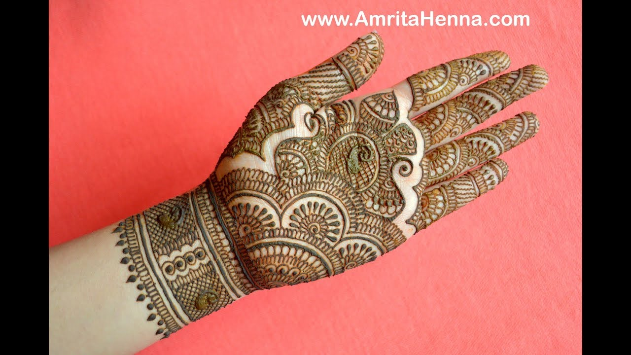 Traditional Rajasthani Bridal Henna Mehndi Design Full Hand