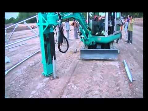 Installation of Ground screw (Landpower Solar Tech)
