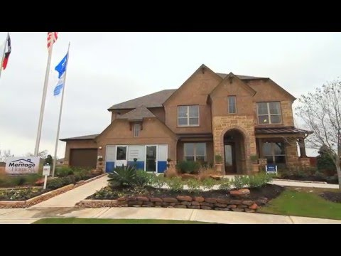 Meritage Homes Model in Riverstone | 4610 Hollow Chase Ln - YouTube