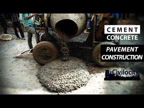 Cement Concrete Pavement Construction