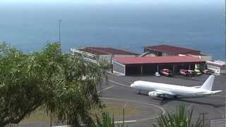 Some spectacular takeoffs and landings at Madeira Airport Funchal