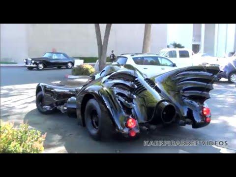 BATMOBILE movie car driving on the street ! ! !