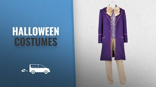 Dreamdance Men Halloween Costumes [2018]: DreamDance Chocolate Factory Cosplay Willy Wonka Costume