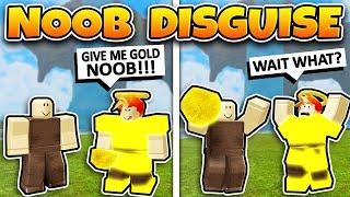 NOOB DISGUISE TROLLING! Bully versuchte, MEINE GOLD zu STEHLEN!!! (Roblox Booga Booga)