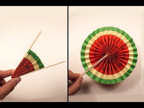 Paper Pop-Up WATERMELON | Origami Watermelon | Paper Crafts