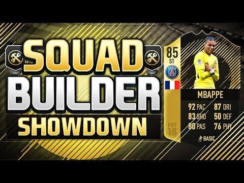 FIFA 18 SQUAD BUILDER SHOWDOWN!!! STRIKER INFORM MBAPPE!!!