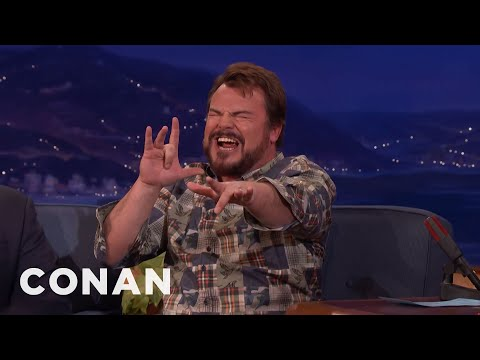 "Jack Black Performs A ""Jumanji"" Song He Co-Wrote With Nick Jonas  - CONAN on TBS"