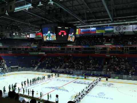 Slavnostní zahájení utkání Salavat Julajev Ufa - HC Energie Karlovy Vary
