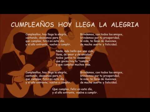 Cumplea�os Hoy Llega la Alegr�a - Bolero
