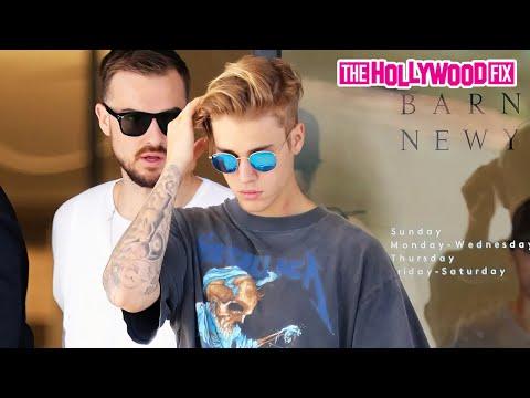 Justin Bieber Wears A Metallica Shirt Leaving Barneys New York With Rich Wilkerson Jr. 6.19.15