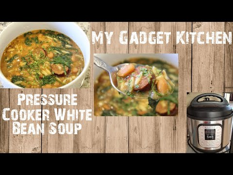 How To: Pressure Cooker White Bean Soup W/ Sausage & Orzo | Instant Pot | My Gadget Kitchen (145)