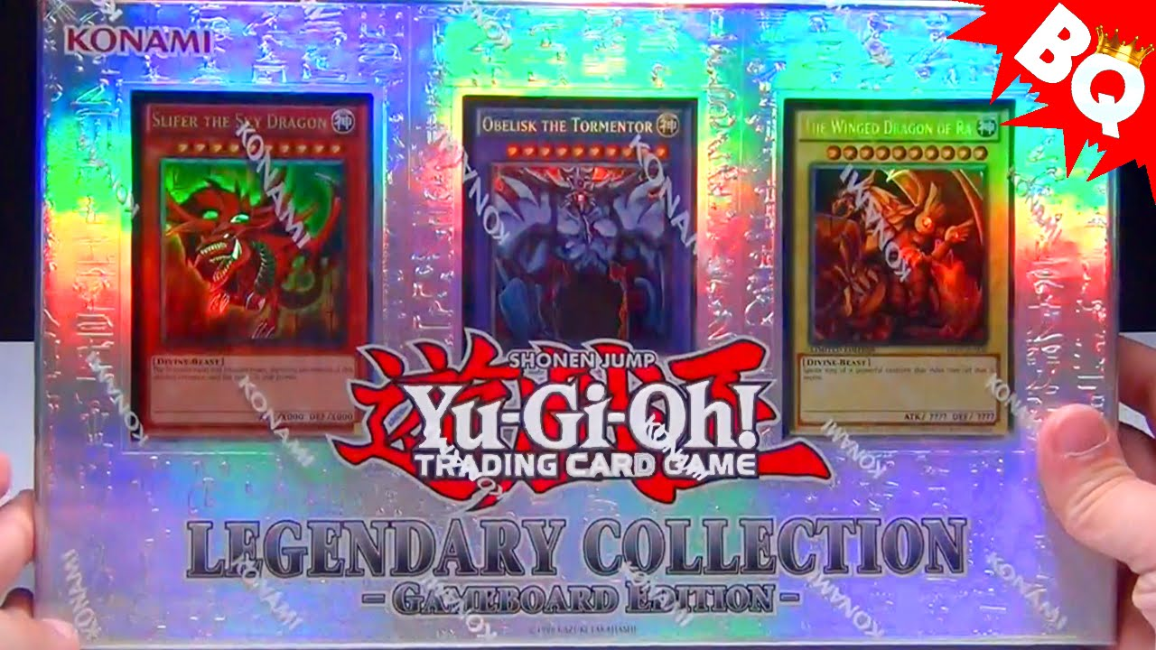 yugioh legendary collection god cards pack opening