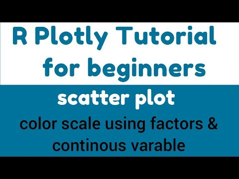 R Plotly Tutorial - Scatter Plot in Plotly - Color scale using