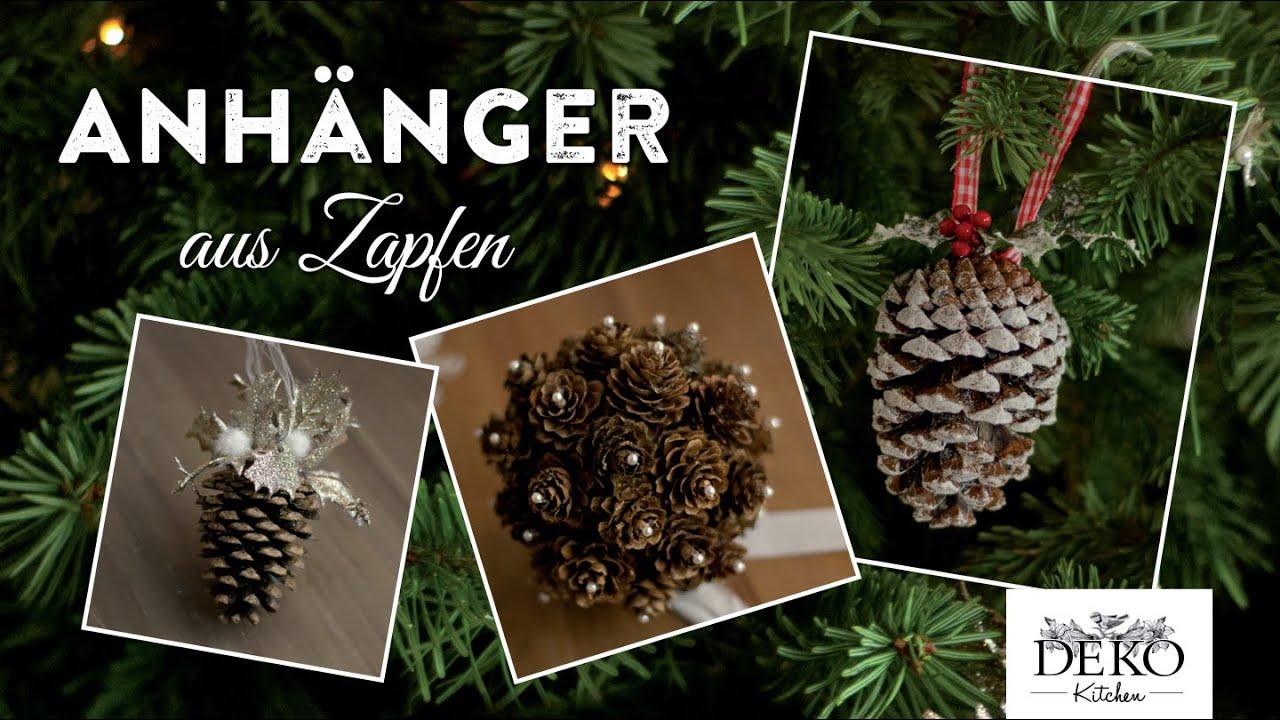 Weihnachtsdeko basteln h bsche deko mit zapfen how to for Mit tannenzapfen basteln