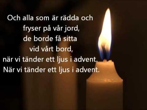 Vi tänder ett ljus i advent