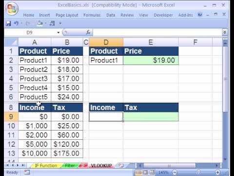 Vlookup Excel Formulas