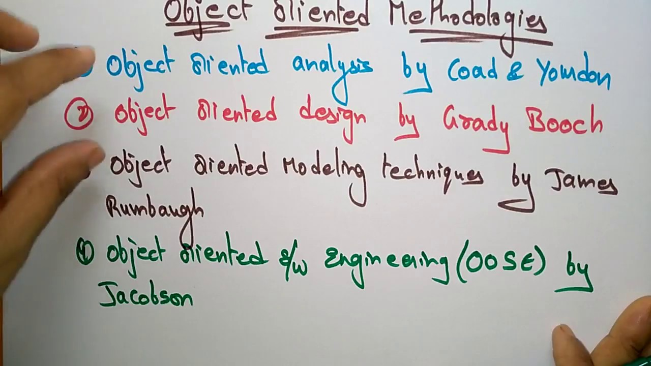 Object Oriented Methodologies In Ooad Part 1 Youtube