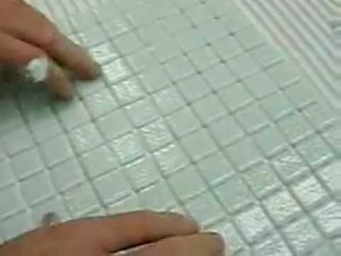 pose mosaique reviglass sur trame cordon nouveaute